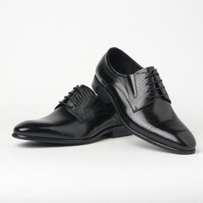 Kožne muške cipele 550-032 crne