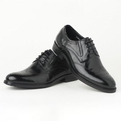 Kožne muške cipele HL-307D-3A crne