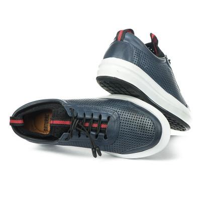 Kožne muške cipele / patike N40351 teget