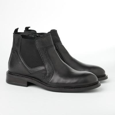 Kožne muške duboke cipele 2385 crne