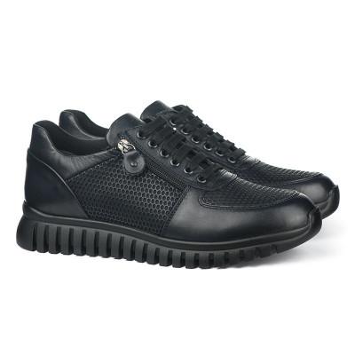Kožne muške patike / cipele 6401 crne