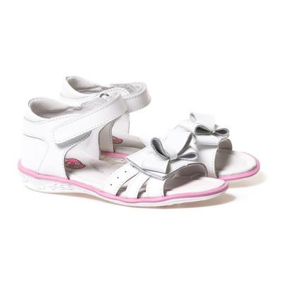 Kožne sandale za devojčice D376 bele