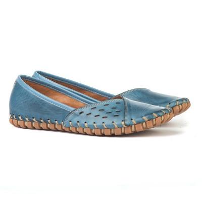 Kožne ženske baletanke K1208/535 plave