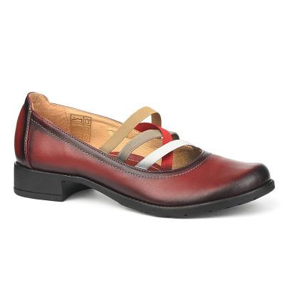 Kožne ženske cipele 2-961 bordo