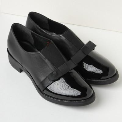 Kožne ženske cipele A11-33 crne
