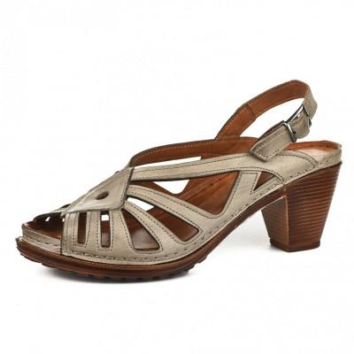 Kožne ženske sandale K1896/528 bež