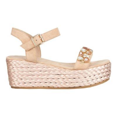 Sandale na debelom djonu F90 svetlo roze