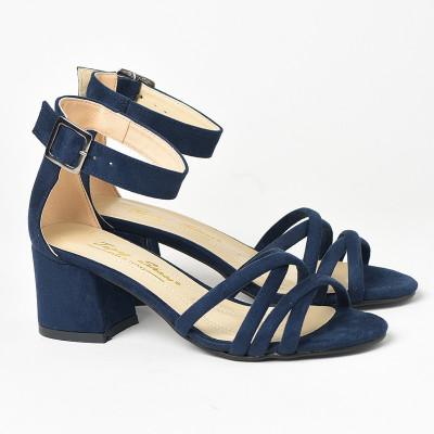 Sandale na štiklu 152 teget
