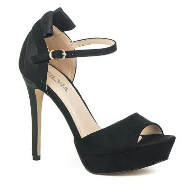 Sandale na štiklu S8308 crne