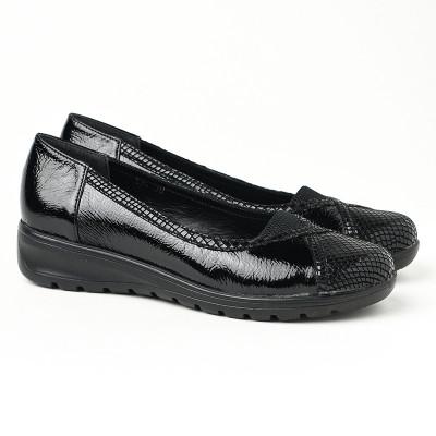 Ženske cipele na ortoped petu 18-134 crne