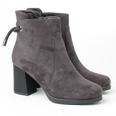 Ženske kratke čizmice LH051050 tamno sive