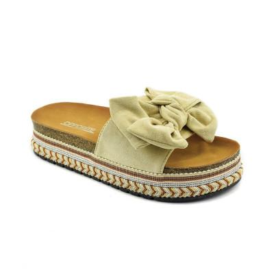 Ženske papuče na debelom đonu LP021251 bež