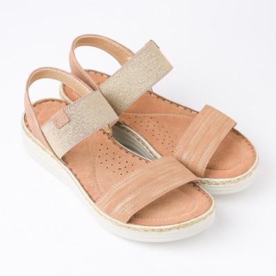 Ženske sandale na debelom djonu 172320 kamel-zlatne