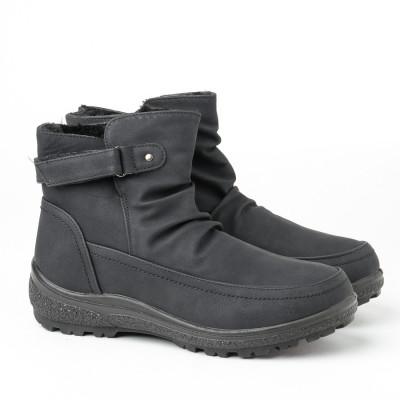 Zimske poluduboke čizme LH050206 crne