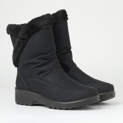 Zimske poluduboke čizme LH096100-1 crne