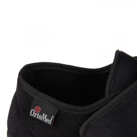 Pantofi ortopedici medicali material stretch OrtoMed 6013-T77 detaliu
