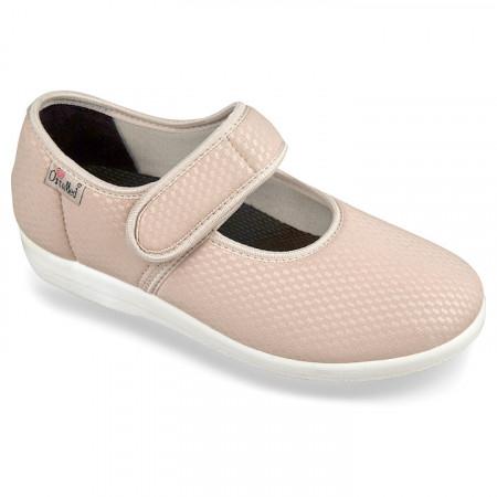 Pantofi ortopedici pentru monturi OrtoMed 6047-S119 bej deschis