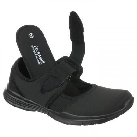 Pantofi sport ortopedici negri dama reglabili PodoWell Valence
