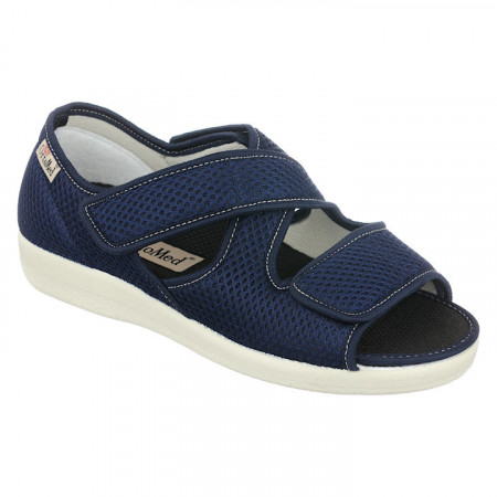 sandale ortopedice talpa joasa bleumarin dama OrtoMed 529-T99