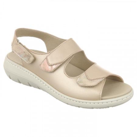 Sandale talpa joasa dama, ortopedice, Pinosos 7478 bej