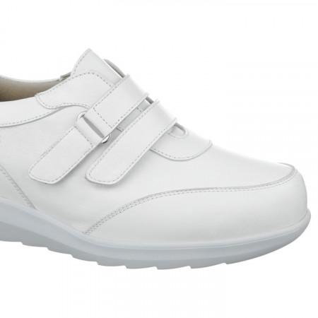 Adidasi ortopedici piele albi dama Pinosos 7670-H