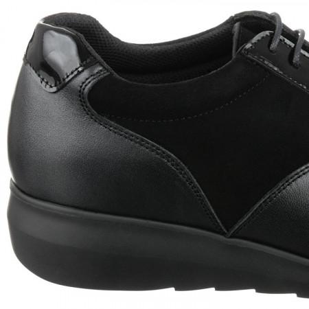 Pantofi sport ortopedici piele negri dama Pinosos 7673H detaliu