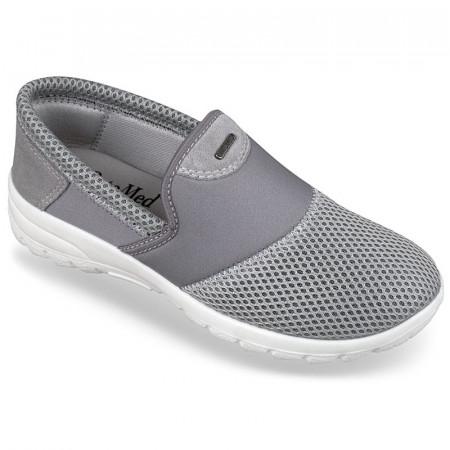 Pantofi sport ortopedici dama gri calapod lat OrtoMed 4001-T84