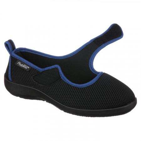 Pantofi sport ortopedici negri dama reglabili PodoWell Tarnos