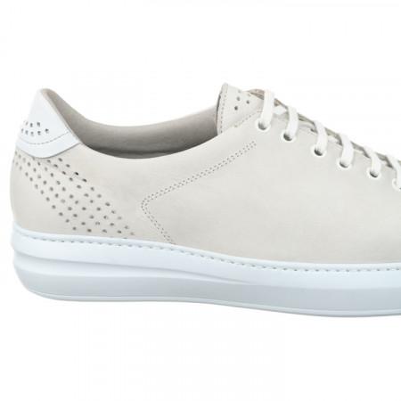 Pantofi sport ortopedici piele albi barbati Pinosos 7905-H