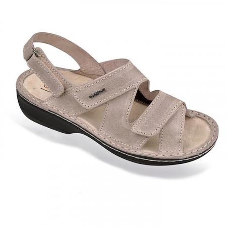 Sandale ortopedice pentru Hallux valgus bej OrtoMed 3703-P59