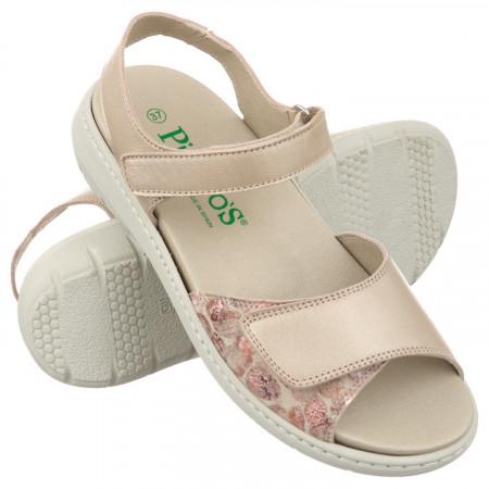 Sandale talpa joasa dama, ortopedice, Pinosos 5968 bej sidefat
