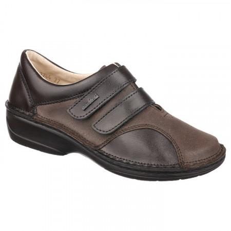 Pantofi ortopedici maro piele dama OrtoMed 3744-P78-P154