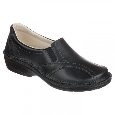 Pantofi ortopedici negri piele dama OrtoMed 3752-P134