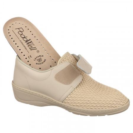 Pantofi pentru monturi bej dama PodoWell Psyche