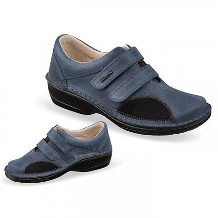Pantofi pentru monturi / Hallux Valgus piele bleumarin dama OrtoMed 3750-P67