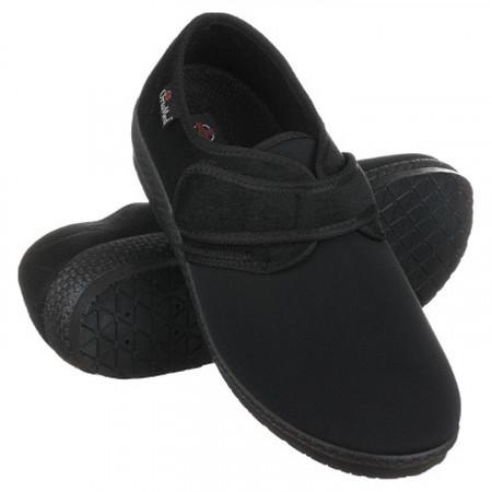 Pantofi ortopedici medicali stretch barbatesti OrtoMed 669-T77 negri
