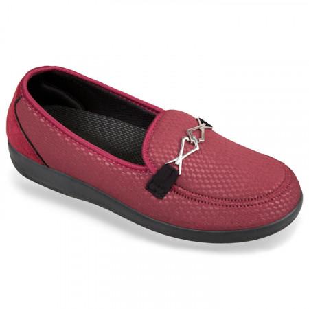 Pantofi ortopedici pentru diabetici si pentru monturi OrtoMed 6037-S118 bordo