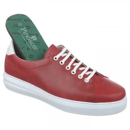 Pantofi sport ortopedici piele rosii barbati Pinosos 7905-H