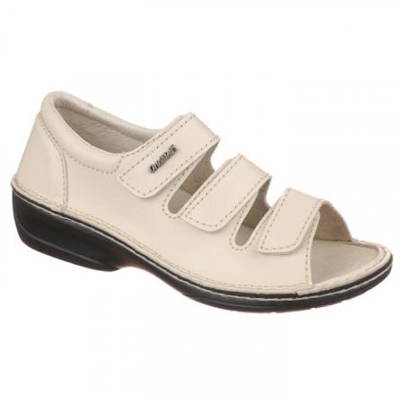 Sandale ortopedice piele bej reglabile dama OrtoMed 3727-P133