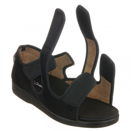 Sandale ortopedice ultra - reglabile negre barbati si femei OrtoMed 529-T44