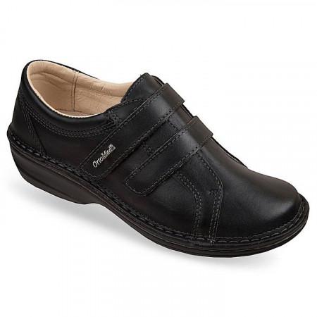 Pantofi ortopedici negri piele dama OrtoMed 3743-P134