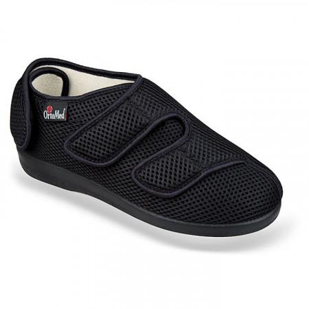 Pantofi recuperare medicala ortopedici ortomed 6051-T21 negri