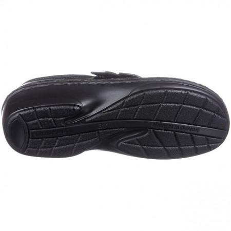 Sandale ortopedice negre piele dama OrtoMed 3705-P134