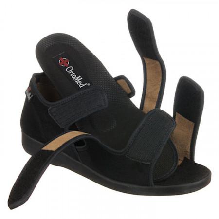 Sandale ortopedice reglabile negre barbati brat detasabil OrtoMed 529-T44