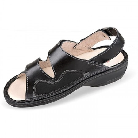 Sandale ortopedice pentru Hallux valgus negre OrtoMed 3703-P134