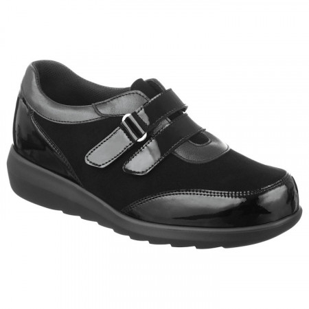 Pantofi ortopedici casual piele negri dama Pinosos 7670H