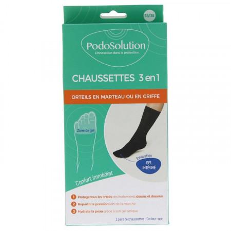 Sosete medicale cu gel interior, pentru persoanele cu degete in ciocan, PodoSolution®.