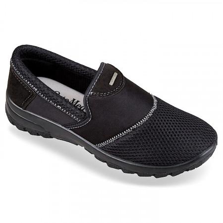Pantofi sport ortopedici dama negri calapod lat OrtoMed 4001-T21