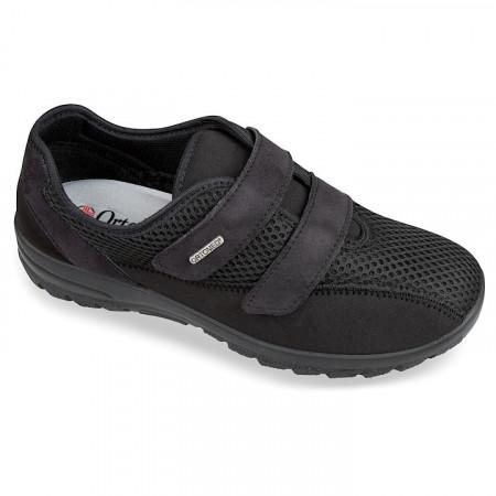 Adidasi ortopedici negri dama pentru Hallux Valgus OrtoMed 4009-T21