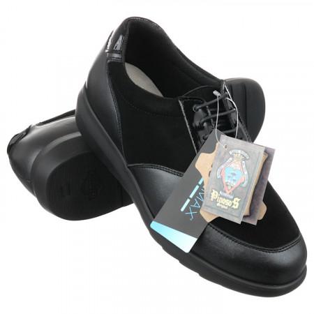 Pantofi sport ortopedici piele negri dama Pinosos 7673H